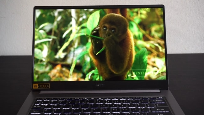 The 14-inch FHD IPS display of Acer Swift 3 SF314-57 laptop.