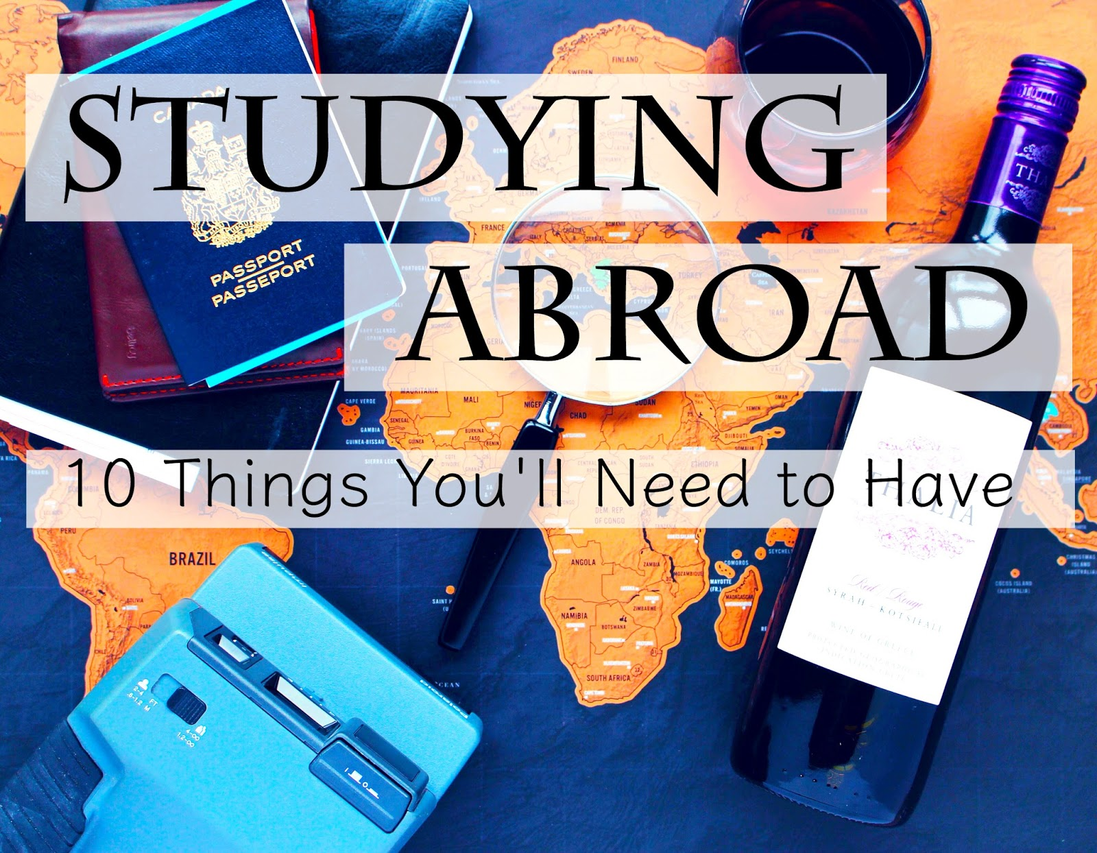 10 Things You'll Need When Studying Abroad | Le Northern Belle