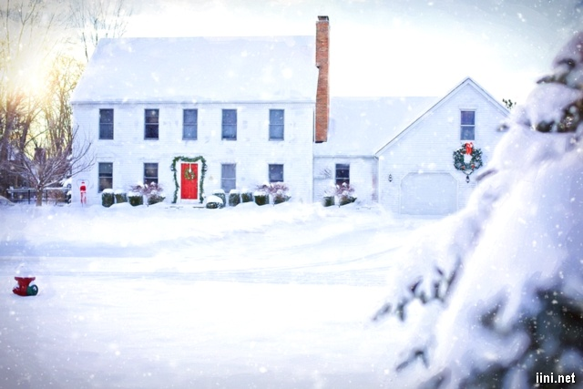 ảnh ngôi nhà mùa đông