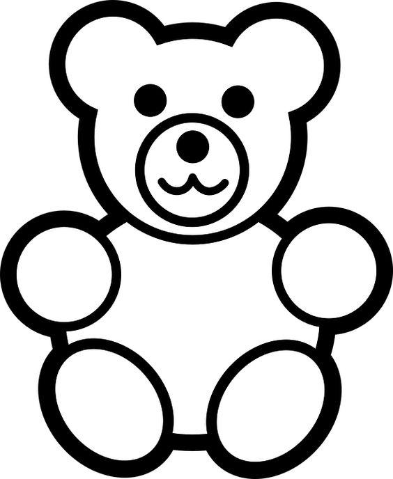 Tranh tô màu con gấu cho bé ba tuổi
