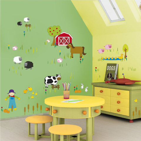Home decoration five fun painting ideas for kids rooms - Kids room paint ideas ...