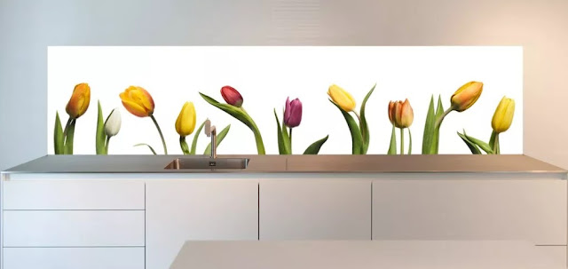 beautiful kitchen with a tulip theme
