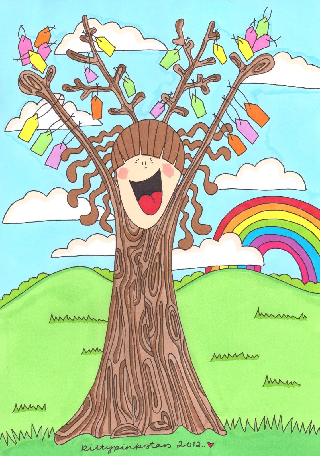 Kittypinkstars Illustration Friday Tree