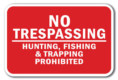 No Trespassing Bigfoot