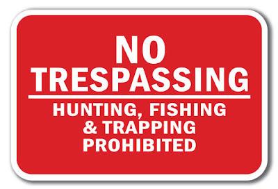 No Trespassing Bigfoot