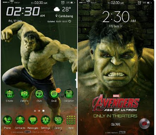 Tema Hulk untuk Samsung J2 Prime
