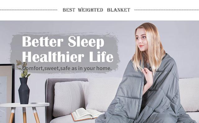 Cotton Heavy Blanket 20 lbs,60''x80'',Queen Size
