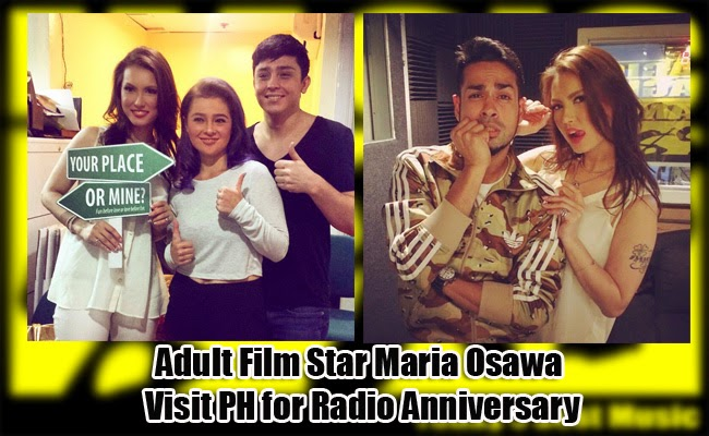 Japanese- French Canadian Adult Film Star Maria Ozawa visit PH for Radio Anniversary