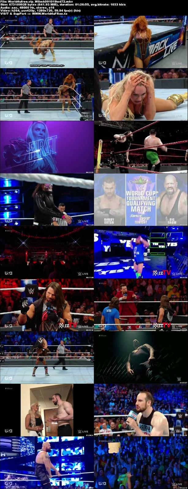 WWE Smackdown Live 09 OCTOBER 2018 720p HDTV 600MB x264 tv show wwe WWE Smackdown Live 09 OCTOBER 2018 HDTV 480p 650MB x264 compressed small size free download or watch online at world4ufree.vip
