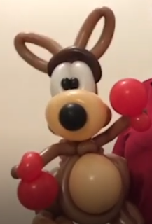 Känguru als Tierfigur aus Luftballons.