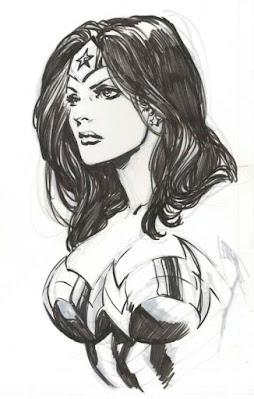 Wonder Woman portrait by Ivan Reis