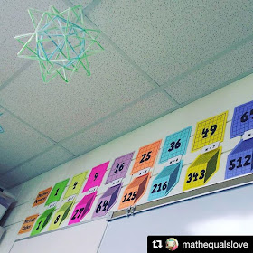 Who doesn't love free? In this post are a bunch of free math bulletin board printables, from posters to math pennants that you can download for your classroom today. Here are perfect square and perfect cube printables.