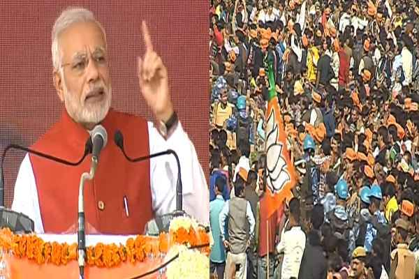 कानपुर रैली में बोले PM MODI, उत्तर प्रदेश में परिवर्तन की लहर नहीं बल्कि आंधी चल रही है