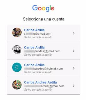 Mis cuentas de Gmail