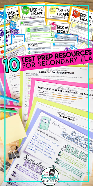 10 Resources to Prepare Students for Middle School and High School ELA Standardized Tests