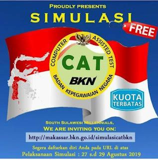 Ayo Daftar Simulasi Resmi Gratis CAT BKN Makassar 2019