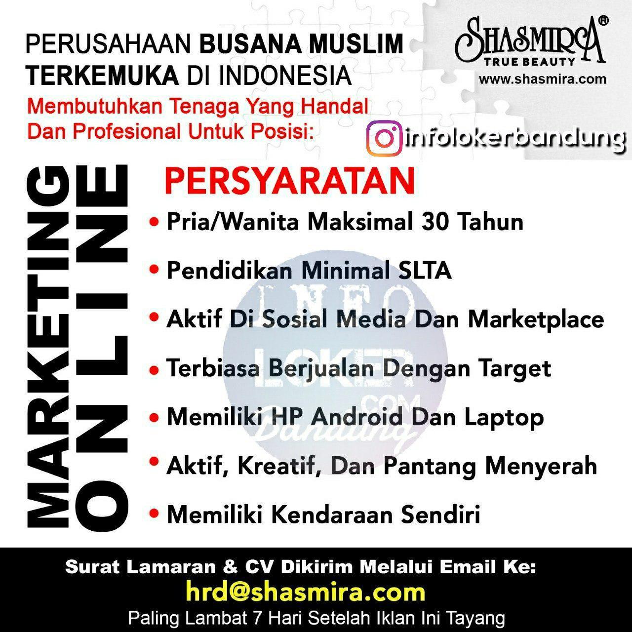 Lowongan Kerja Shasmira Busana Muslim Bandung April 2018