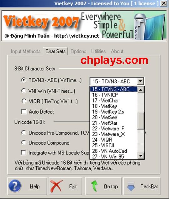 Tải Vietkey 2007 - Gõ tiếng Việt, Soạn thảo văn bản trên máy tính a