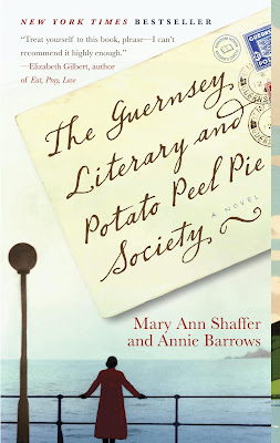 The Guernsey Literary and Potato Peel Pie Society book by Mary Ann Shaffer and  Annie Barrows behind the movie starring Lily James