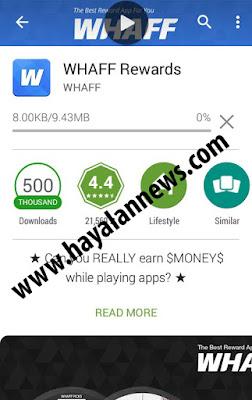 Cara kerja maksimal aplikasi whaff android untuk menghasilkan banyak dollar