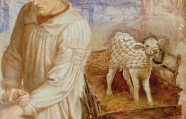 "Dante Gabriel Rossetti ""Encontrada"". Bezerro."
