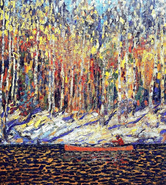 Arthur Lismer, Group of Seven Canada, autumn landscape painting