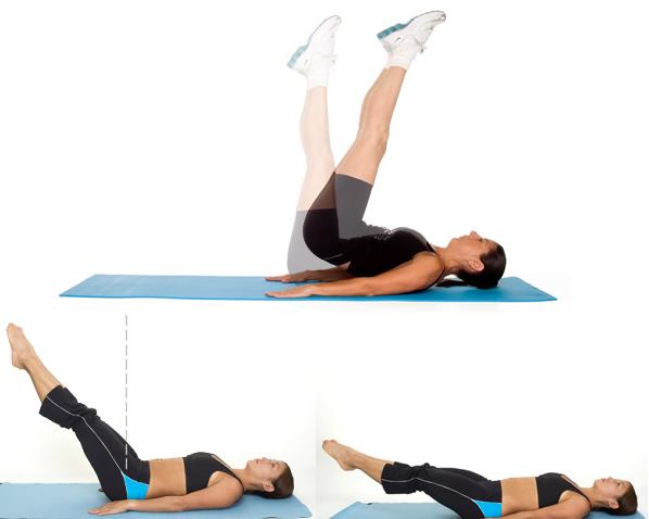 senaman perut buncit selepas bersalin - leg-lower