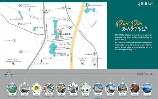 Bản đồ vị trí chung cư Epic Home
