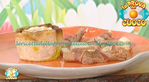 Ricetta dei Cestini di uova e pancetta da La Prova del Cuoco