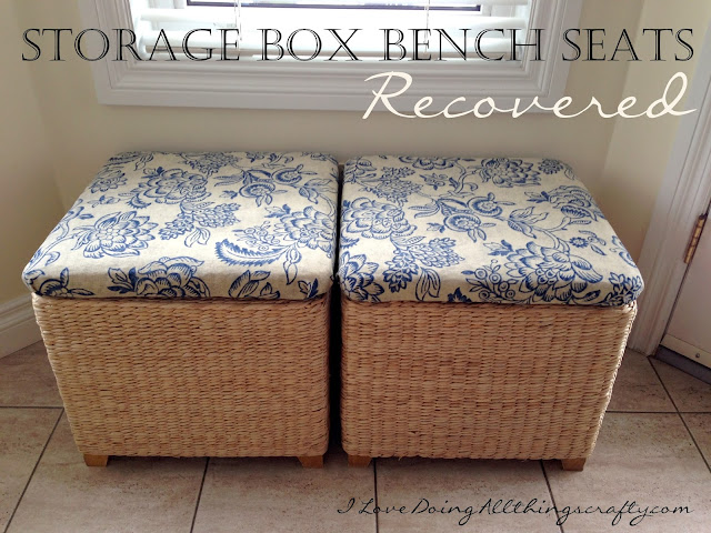 Storage Box Bench Seats Recovered | DIY Tutorial