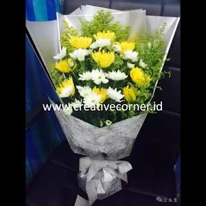Kertas Buket Bunga / Hand Bouquet Seri CS-060060-Silver