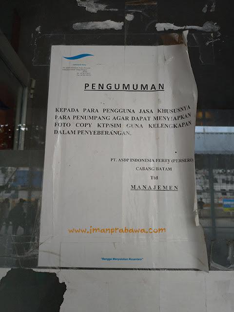 KTP dan SIM Untuk Naik Kapal Roro