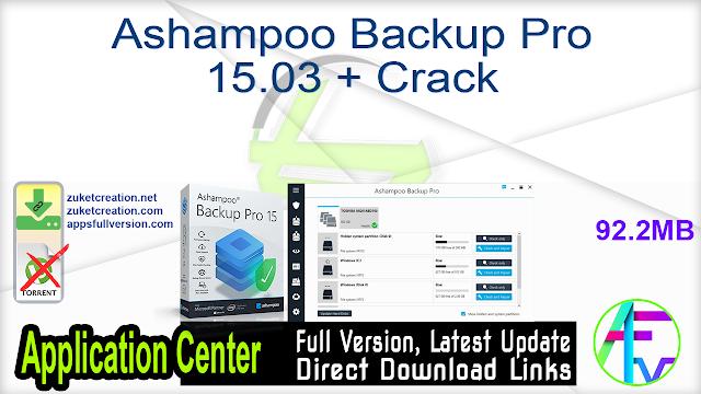 Ashampoo Backup Pro 15.03 + Crack