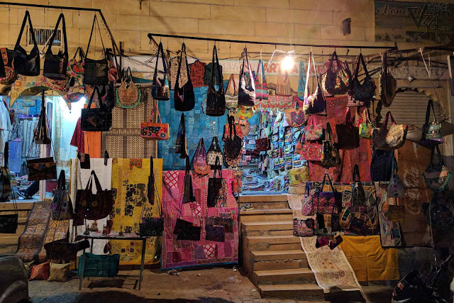 Shopping near the Jaisalmer fort gate