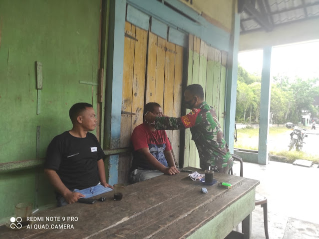 Personel Jajaran Kodim 0208/Asahan Laksanakan Penegakan Disiplin Protokol Kesehatan Dalam Rangka New Normal Terhadap Masyarakat
