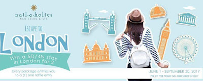 Get Pampered and win a trip to London with Nailaholics Nail Salon and Spa