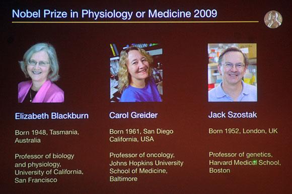 A díjat a telomérák és a telomeráz enzim felfedezéséért és az ezekkel  kapcsolatos úttörő kutatásokért Elizabeth H. ... 95dad8b0cb