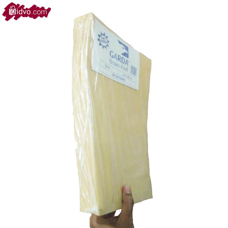 Amplop Coklat Ukuran Kabinet (10,8x24cm) |100 Lembar/Pak | Untuk Packing Pengiriman