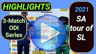 Sri Lanka vs South Africa ODI Series 2021