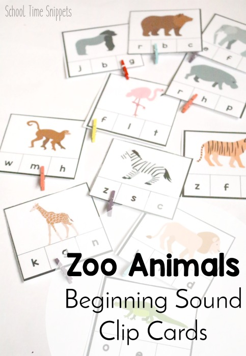 preschool zoo printable