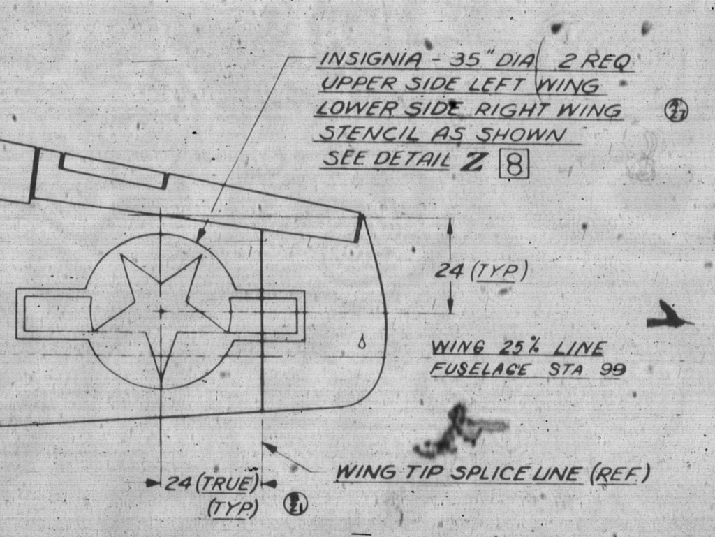 Oldsarges Aircraft Model Blog P 51 Mustang Insignia Sizes