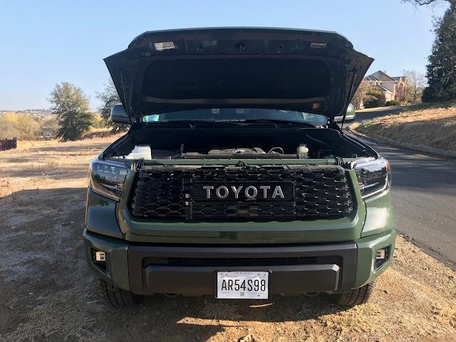 Hood up on 2020 Toyota Tundra TRD Pro CrewMax