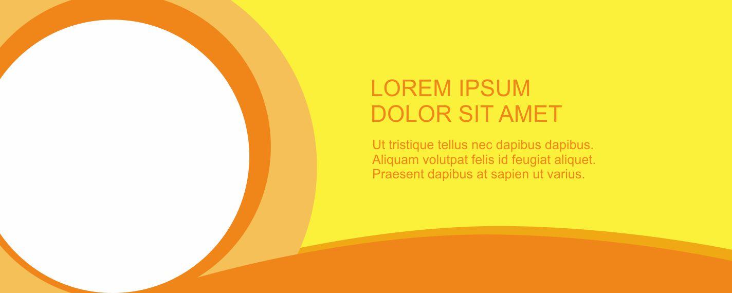 spanduk kosong versi oranye