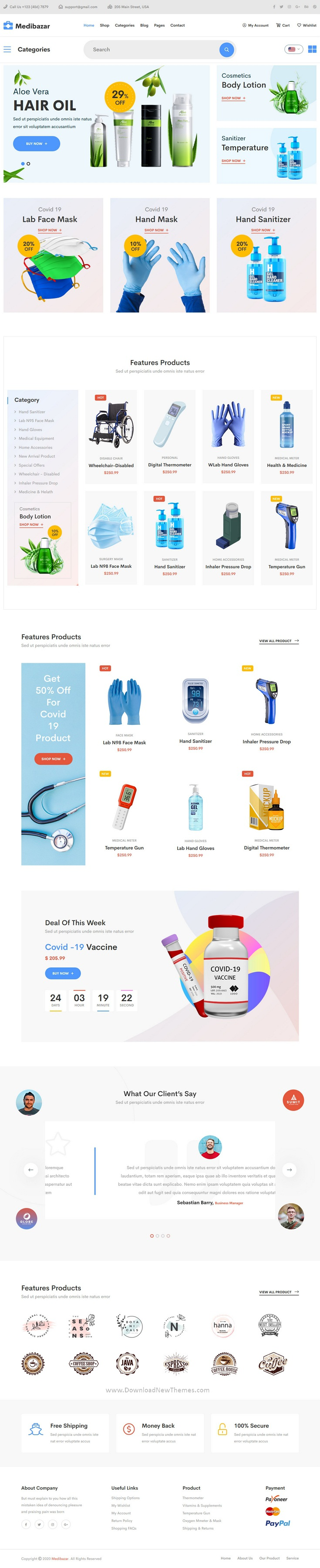 edical Equipment Store eCommerce Template