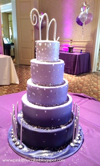 Th Birthday Cake Purple Colors