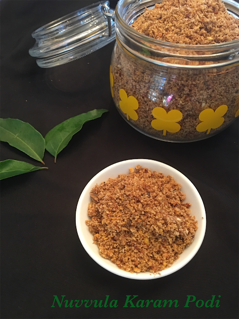 Nuvvula Karam Podi / Sesame Spicy Powder