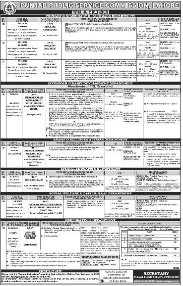 PPSC Punjab Public  Service Commission Jobs 2021- Jobspk14.com