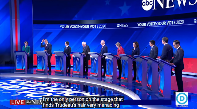 ABC Democratic presidential debate September 2019 Cory Booker bald Justin Trudeau hair