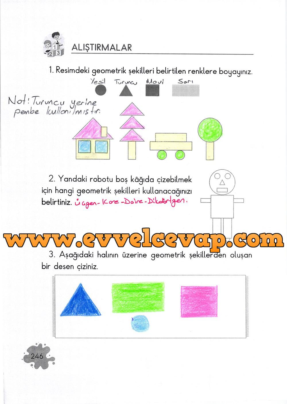 2. Sınıf Açılım Yayınları Matematik Ders Kitabı 246. Sayfa Cevapları