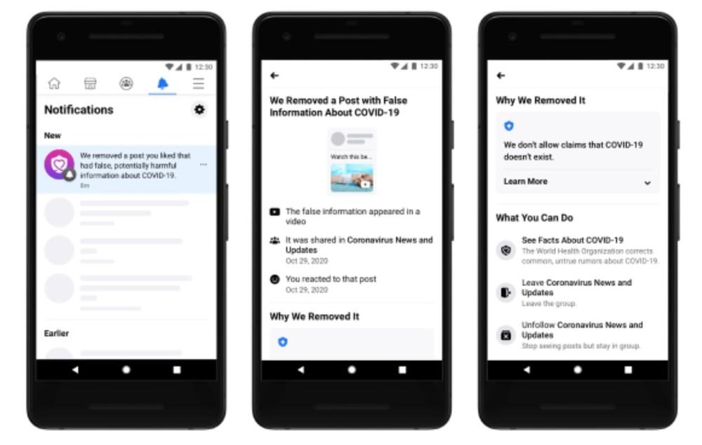 Coronavirus e Fake News, Facebook invia notifiche a chi mette like